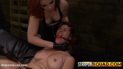 Photo number 14 from Pain Sub Slut Alessa Snow Endures Lesbian Domination shot for Strapon Squad on Kink.com. Featuring Kimber Woods, Alessa Snow and Isa Mendez in hardcore BDSM & Fetish porn.