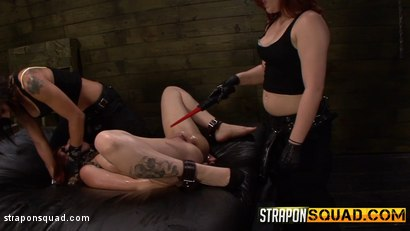 Photo number 5 from Pain Sub Slut Alessa Snow Endures Lesbian Domination shot for Strapon Squad on Kink.com. Featuring Kimber Woods, Alessa Snow and Isa Mendez in hardcore BDSM & Fetish porn.