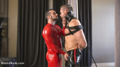 Photo number 3 from Lust for Latex shot for Bound Gods on Kink.com. Featuring Jaxton Wheeler and Alex Mecum in hardcore BDSM & Fetish porn.