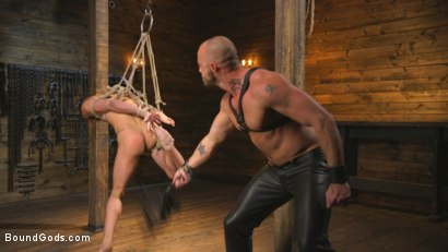 Photo number 7 from New house slave offers himself to the sexual desires of Master Colter shot for Bound Gods on Kink.com. Featuring Jessie Colter and Chance Summerlin in hardcore BDSM & Fetish porn.