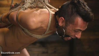 Photo number 8 from New house slave offers himself to the sexual desires of Master Colter shot for Bound Gods on Kink.com. Featuring Jessie Colter and Chance Summerlin in hardcore BDSM & Fetish porn.