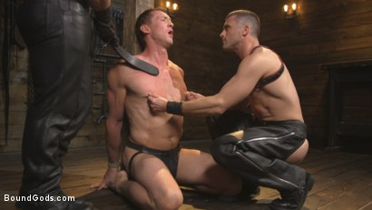 Photo number 1 from Training Day - Dom in training gets to break in a ripped, new slave shot for Bound Gods on Kink.com. Featuring Jaxton Wheeler, Lance Hart and Pierce Paris in hardcore BDSM & Fetish porn.