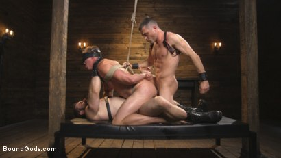 Photo number 11 from Training Day - Dom in training gets to break in a ripped, new slave shot for Bound Gods on Kink.com. Featuring Jaxton Wheeler, Lance Hart and Pierce Paris in hardcore BDSM & Fetish porn.