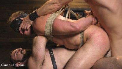 Photo number 13 from Training Day - Dom in training gets to break in a ripped, new slave shot for Bound Gods on Kink.com. Featuring Jaxton Wheeler, Lance Hart and Pierce Paris in hardcore BDSM & Fetish porn.