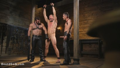 Photo number 6 from Training Day - Dom in training gets to break in a ripped, new slave shot for Bound Gods on Kink.com. Featuring Jaxton Wheeler, Lance Hart and Pierce Paris in hardcore BDSM & Fetish porn.