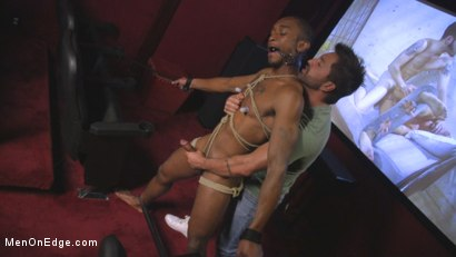Photo number 3 from Edged at the Cinemas shot for Men On Edge on Kink.com. Featuring Zaid Powers in hardcore BDSM & Fetish porn.