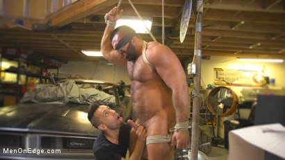 Photo number 3 from Beefy mechanic taken down & edged against his will shot for Men On Edge on Kink.com. Featuring Steven Roman in hardcore BDSM & Fetish porn.