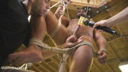 Photo number 8 from Beefy mechanic taken down & edged against his will shot for Men On Edge on Kink.com. Featuring Steven Roman in hardcore BDSM & Fetish porn.