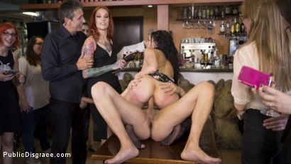 Photo number 33 from Buxom Brunette Sophia Laure Belittled in Barcelona  shot for Public Disgrace on Kink.com. Featuring Steve Holmes, Max Cortes, Silvia Rubi and Sophia Laure in hardcore BDSM & Fetish porn.