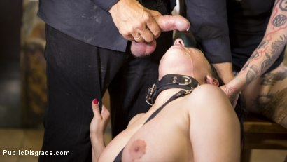 Photo number 35 from Buxom Brunette Sophia Laure Belittled in Barcelona  shot for Public Disgrace on Kink.com. Featuring Steve Holmes, Max Cortes, Silvia Rubi and Sophia Laure in hardcore BDSM & Fetish porn.