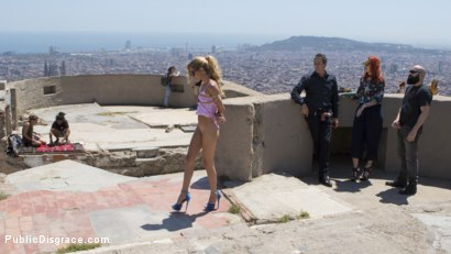 Photo number 3 from Petite Shy Latina Gabriela Flores' First Public Fucking   shot for Public Disgrace on Kink.com. Featuring Steve Holmes, Gabriela Flores, Max Cortes and Silvia Rubi in hardcore BDSM & Fetish porn.