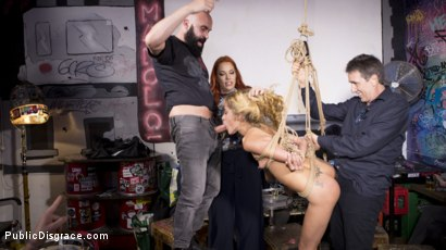 Photo number 22 from Petite Shy Latina Gabriela Flores' First Public Fucking   shot for Public Disgrace on Kink.com. Featuring Steve Holmes, Gabriela Flores, Max Cortes and Silvia Rubi in hardcore BDSM & Fetish porn.