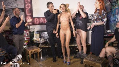 Photo number 36 from Petite Shy Latina Gabriela Flores' First Public Fucking   shot for Public Disgrace on Kink.com. Featuring Steve Holmes, Gabriela Flores, Max Cortes and Silvia Rubi in hardcore BDSM & Fetish porn.