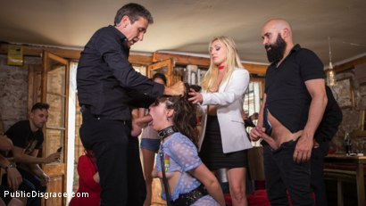 Photo number 19 from The Public Fuck Toy of Barcelona shot for Public Disgrace on Kink.com. Featuring Steve Holmes, Liz Rainbow, Max Cortes and Amber Deen in hardcore BDSM & Fetish porn.