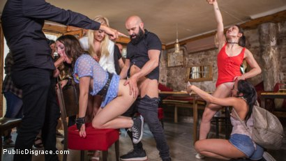 Photo number 23 from The Public Fuck Toy of Barcelona shot for Public Disgrace on Kink.com. Featuring Steve Holmes, Liz Rainbow, Max Cortes and Amber Deen in hardcore BDSM & Fetish porn.