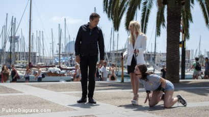 Photo number 2 from The Public Fuck Toy of Barcelona shot for Public Disgrace on Kink.com. Featuring Steve Holmes, Liz Rainbow, Max Cortes and Amber Deen in hardcore BDSM & Fetish porn.