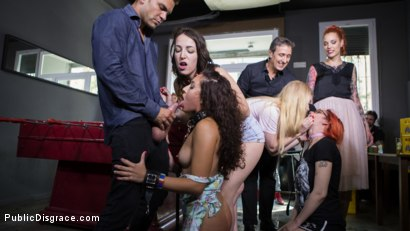 Photo number 9 from Submissive, Slut Melody Petite Gets Humiliated and Fucked in Public! shot for Public Disgrace on Kink.com. Featuring Steve Holmes, Juan Lucho, Silvia Rubi and Melody Petite in hardcore BDSM & Fetish porn.