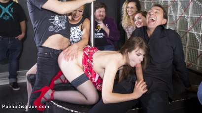Photo number 19 from Perky Young French Brunette Begs For Anal Sex in Public shot for Public Disgrace on Kink.com. Featuring Steve Holmes, Max Cortes, Cherry Kiss and Luna Rival in hardcore BDSM & Fetish porn.