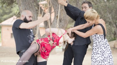 Photo number 10 from Perky Young French Brunette Begs For Anal Sex in Public shot for Public Disgrace on Kink.com. Featuring Steve Holmes, Max Cortes, Cherry Kiss and Luna Rival in hardcore BDSM & Fetish porn.