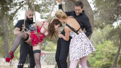 Photo number 11 from Perky Young French Brunette Begs For Anal Sex in Public shot for Public Disgrace on Kink.com. Featuring Steve Holmes, Max Cortes, Cherry Kiss and Luna Rival in hardcore BDSM & Fetish porn.
