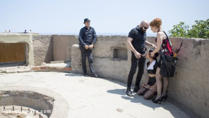 Photo number 1 from Petite Brunette Brazilian Gets DP'd in Public  shot for Public Disgrace on Kink.com. Featuring Steve Holmes, Francys Belle, Irina Vega and Max Cortes in hardcore BDSM & Fetish porn.