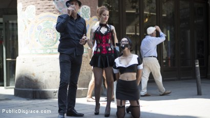 Photo number 2 from Petite Brunette Brazilian Gets DP'd in Public  shot for Public Disgrace on Kink.com. Featuring Steve Holmes, Francys Belle, Irina Vega and Max Cortes in hardcore BDSM & Fetish porn.
