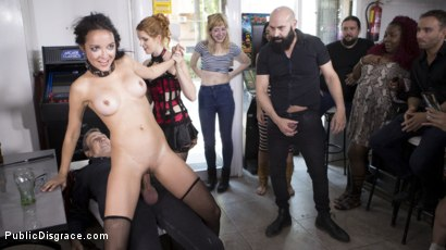 Photo number 18 from Petite Brunette Brazilian Gets DP'd in Public  shot for Public Disgrace on Kink.com. Featuring Steve Holmes, Francys Belle, Irina Vega and Max Cortes in hardcore BDSM & Fetish porn.