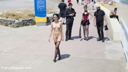 Photo number 6 from Petite Brunette Brazilian Gets DP'd in Public  shot for Public Disgrace on Kink.com. Featuring Steve Holmes, Francys Belle, Irina Vega and Max Cortes in hardcore BDSM & Fetish porn.