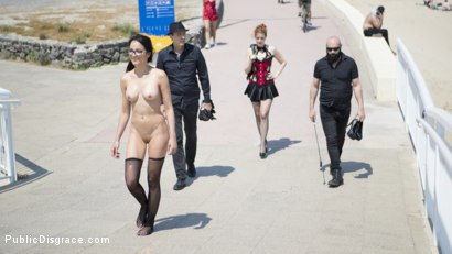 Photo number 7 from Petite Brunette Brazilian Gets DP'd in Public  shot for Public Disgrace on Kink.com. Featuring Steve Holmes, Francys Belle, Irina Vega and Max Cortes in hardcore BDSM & Fetish porn.