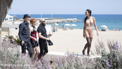Photo number 10 from Petite Brunette Brazilian Gets DP'd in Public  shot for Public Disgrace on Kink.com. Featuring Steve Holmes, Francys Belle, Irina Vega and Max Cortes in hardcore BDSM & Fetish porn.