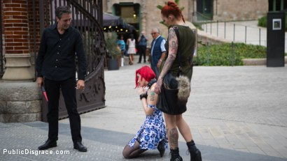 Photo number 1 from Petite Natural Whore Shamed in Public and Gang Fucked in Rope Bondage! shot for Public Disgrace on Kink.com. Featuring Steve Holmes, Max Cortes, Silvia Rubi, Susy Blue and Margout Darko in hardcore BDSM & Fetish porn.