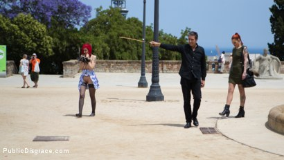 Photo number 4 from Petite Natural Whore Shamed in Public and Gang Fucked in Rope Bondage! shot for Public Disgrace on Kink.com. Featuring Steve Holmes, Max Cortes, Silvia Rubi, Susy Blue and Margout Darko in hardcore BDSM & Fetish porn.