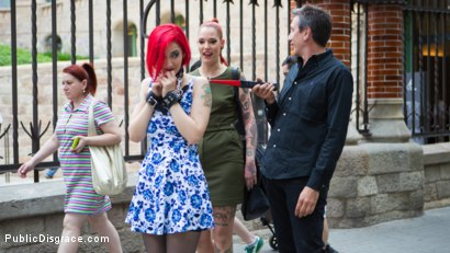 Photo number 2 from Petite Natural Whore Shamed in Public and Gang Fucked in Rope Bondage! shot for Public Disgrace on Kink.com. Featuring Steve Holmes, Max Cortes, Silvia Rubi, Susy Blue and Margout Darko in hardcore BDSM & Fetish porn.