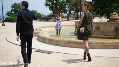 Photo number 3 from Petite Natural Whore Shamed in Public and Gang Fucked in Rope Bondage! shot for Public Disgrace on Kink.com. Featuring Steve Holmes, Max Cortes, Silvia Rubi, Susy Blue and Margout Darko in hardcore BDSM & Fetish porn.