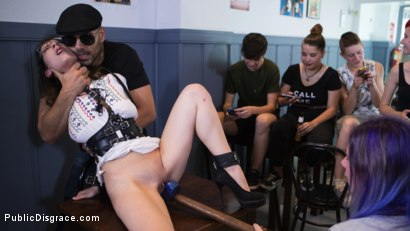 Photo number 10 from Public Shame Slut Zenda Sexy Disgraced, Tickled, and Fucked by a Crowd shot for Public Disgrace on Kink.com. Featuring Steve Holmes, Antonio Ross and Zenda Sexy in hardcore BDSM & Fetish porn.