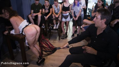 Photo number 18 from Public Shame Slut Zenda Sexy Disgraced, Tickled, and Fucked by a Crowd shot for Public Disgrace on Kink.com. Featuring Steve Holmes, Antonio Ross and Zenda Sexy in hardcore BDSM & Fetish porn.