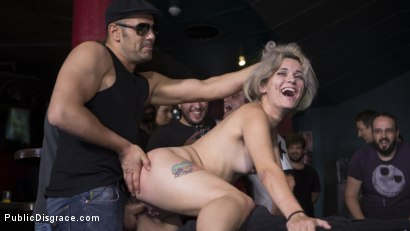 Photo number 15 from Attention Whore Yunno X Humilated, Punished, and Gang Fucked in Public shot for Public Disgrace on Kink.com. Featuring Steve Holmes, Antonio Ross, Tina Kay and Yunno X in hardcore BDSM & Fetish porn.