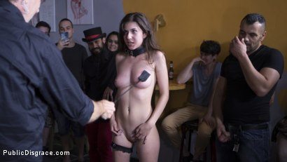Photo number 24 from Nineteen Year Old Newbie Anya Krey Likes it Rough shot for Public Disgrace on Kink.com. Featuring Steve Holmes, Antonio Ross, Tina Kay and Anya Krey in hardcore BDSM & Fetish porn.