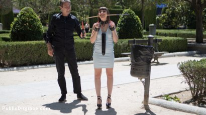 Photo number 2 from Petite Parisian Luna Rival Gets Wrapped in Rope and Fucked in Public   shot for Public Disgrace on Kink.com. Featuring Steve Holmes and Luna Rival in hardcore BDSM & Fetish porn.