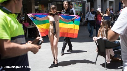 Photo number 3 from Petite Parisian Luna Rival Gets Wrapped in Rope and Fucked in Public   shot for Public Disgrace on Kink.com. Featuring Steve Holmes and Luna Rival in hardcore BDSM & Fetish porn.