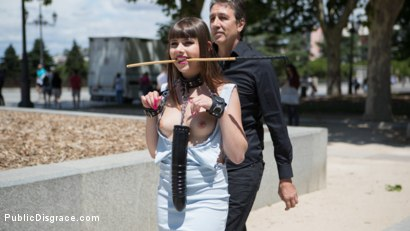 Photo number 1 from Petite Parisian Luna Rival Gets Wrapped in Rope and Fucked in Public   shot for Public Disgrace on Kink.com. Featuring Steve Holmes and Luna Rival in hardcore BDSM & Fetish porn.