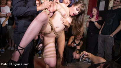 Petite Parisian Luna Rival Gets Wrapped in Rope and Fucked in Public