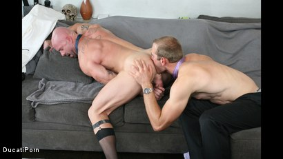 Photo number 12 from Thigh High: Mitch Vaughn, Jonah Marx shot for Ducati Porn on Kink.com. Featuring Mitch Vaughn and Jonah Marx in hardcore BDSM & Fetish porn.