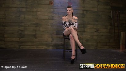 Photo number 2 from Jynx Hollywood Chained to the Sybian by Mena Li & Lexy Villa shot for Strapon Squad on Kink.com. Featuring Jynx Hollywood, Mena Mason and Lexy Villa in hardcore BDSM & Fetish porn.