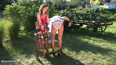 Photo number 4 from Hartwood Correctional Farm: Jennifer Love, Victoria Blond shot for Bizarre Video on Kink.com. Featuring  in hardcore BDSM & Fetish porn.