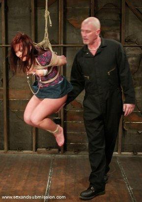Photo number 3 from Katja Kassin shot for Sex And Submission on Kink.com. Featuring Mark Davis and Katja Kassin in hardcore BDSM & Fetish porn.