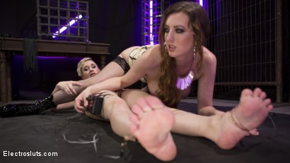 Photo number 9 from Cherry Torn Trains New Lesbian Electro-Slave shot for Electro Sluts on Kink.com. Featuring Cherry Torn and Mercy West in hardcore BDSM & Fetish porn.