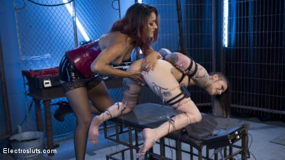 Photo number 14 from Daisy Ducati Breaks in New Electroslut shot for Electro Sluts on Kink.com. Featuring Daisy Ducati and Leigh Raven in hardcore BDSM & Fetish porn.