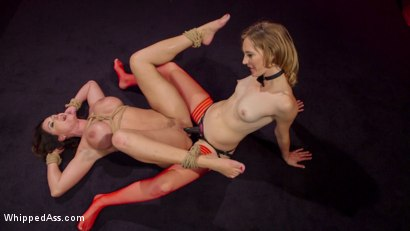 Photo number 23 from Make That Dick Disappear: Bombshell Christina Carter Returns!  shot for Whipped Ass on Kink.com. Featuring Mona Wales and Christina Carter in hardcore BDSM & Fetish porn.