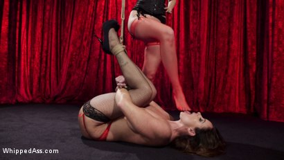 Photo number 25 from Make That Dick Disappear: Bombshell Christina Carter Returns!  shot for Whipped Ass on Kink.com. Featuring Mona Wales and Christina Carter in hardcore BDSM & Fetish porn.